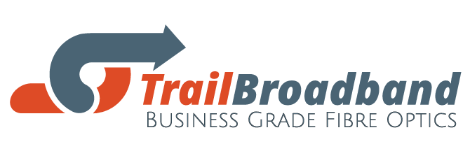 Trail Broadband Logo Orange and Grey